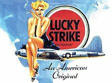 Lucky Strike Cigarettes small steel sign 200mm x 150mm (og)