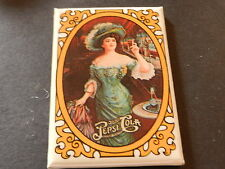 "PEPSI COLA ""GIRL IN BLUE DRESS"" POCKET MIRROR, NEW 3 1/4"" X 2 1/4"","