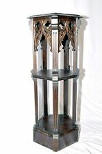 Antique French Gothic Pedestal Statue Display Furniture