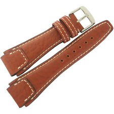 18mm Rios Mens Nature Cognac Tan Buffalo Leather German Pilot Watch Band Strap