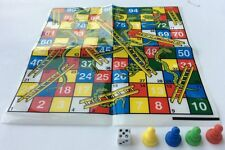Snake and Ladder Dice Board Game FUN Traditional Games new format.