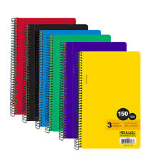 "1 book of Bazic C/R College Ruled 150 Ct. 9.5"" X 5.75"" 3-Subject Spiral Notebook"