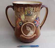 Rare Royal Doulton 1953 Loving Cup, Queen Elizabeth II Coronation 963/1000 Huge