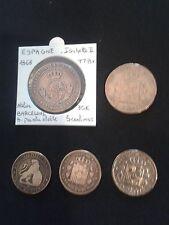 LOT 5 PIECES ESPAGNE (1868  à  1879)