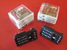 Relay R10-E1-Y6-V90  2A 28V 120 VAC RES  Relays & Socket  ( 2 pcs ) **NEW**