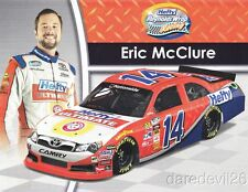2014 Eric McClure Hefty Toyota Camry NASCAR Nationwide postcard