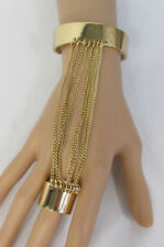New Women Gold Metal Hand Multi Chains Slave Ring Fashion Bracelet Sexy Jewelry