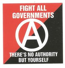 25 Fight all governments Aufkleber stickers Anarcho Punk Crust Anarchie GNWP HC
