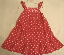 GYMBOREE Girls 12-18 Month Citrus Cooler Pink Polka Dot Dress Outfit NWT