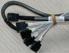 SFF-8643 to 4 SATA fan out cable, Comply with SAS 3.0 12G 1.Meter