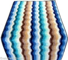MISSONI 'Morgan' Wave Stripe Pattern Luxury Bath & Hand Towel Set of 2 Pcs *NEW*