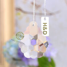 5 Clear Lily Suncatcher Hanging Cut Crystal Prism Feng Shui Drops Pendants 50mm