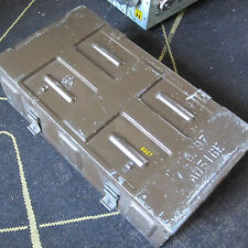"Military Chest Crate Box Trunk Ammo etc Large 25"" x 13"" Khaki Brown Distressed"