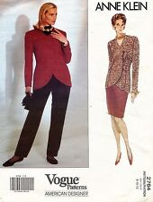 VOGUE  Misses' Jacket,Skirt,Pants Anne Klein  Pattern 2764 Size 8-12 UNCUT