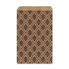 """100 Damask Print Gift Bags Merchandise Bags Paper Bags 6""""x 9"""""""
