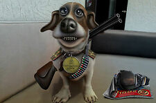 A4 Poster – Funny War Dog with a Gun and Big Grin (Picture Print Art Cartoon)