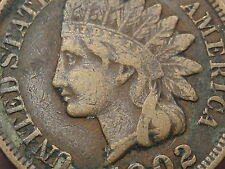 1902 Indian Head Cent Penny, XF Details, LIBERTY showing