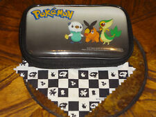POKEMON BLACK & WHITE NINTENDO DS CASE Oshawott Snivy Tepig SCREEN CLOTH