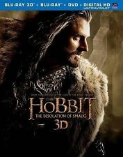 THE HOBBIT Desolation of Smaug Blu-Ray 3D/Blu-Ray/DVD/Digital HD Ultraviolet NEW