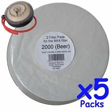 5x Filter Pads 2000 Beer 2x Pack for the Better Brew MK4 Wine Filter Homebrew