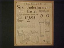 ~Lady Clothes Woman Undergarments OLD Store Newspaper Print AD~ANTIQUE Orig 1920