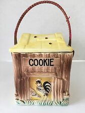 Hen Rooster House Chicken Coop Square Cookie Jar