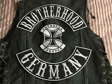 Brotherhood GERMANY Choppers Forever Completo Set MC HARLEY senza tonaca