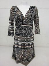 SINEQUANONE  Black Brown Boho Floral Print Made in Paris Sz XS-S