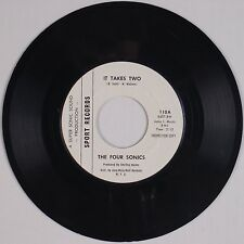 THE FOUR SONICS: It Takes Two USA SPORT Northern Soul DJ COPY 45 NM- Super