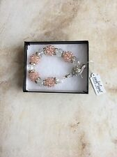 "Park Lane Jewelry, ""IMAGINE"" Bracelet w/Austrian Crystal & Pink Beads,  NEW!!!"