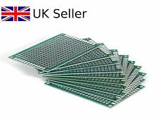 Double Sided 6x4 Printed Circuit Board PCB Prototype Breadboard UK SELLER