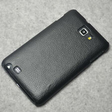 New Black leather Texture hard case Cover for Samsung Galaxy Note N7000 I717