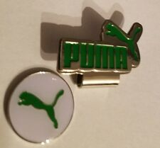 Brand New White and Green Puma Golf Ball marker with hat clip!!