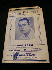 Partition Noel en Mer Tino Rossi Ackermans Music Sheet