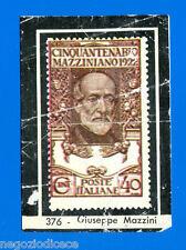 CENTENARIO UNITA D'ITALIA - Figurina-Sticker n. 376 - FRANCOBOLLO MAZZINI -Rec