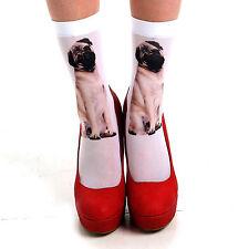 PAMELA MANN LABRADOR & Pug Dog ANKLE SOCKS 2 pairs new UK 4-7 Harajuku style