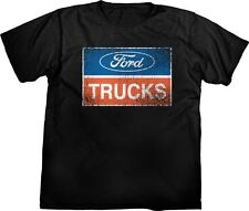 Ford Trucks Distressed Logo Black Men's T-Shirt 100% Cotton~XL~Official Licensed