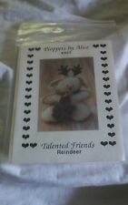 Ploppers by Alice Talented Friends Reindeer Holiday Pattern (805) in org package