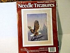 Colorart Cross Stitch Kit Needle Treasures-EAGLE AT TWILIGHT-NEW