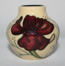 "Moorcroft - Chocolate Cosmos - 2 1/4"" Vase, Shape 35/2 - Rachel Bishop - vgc"
