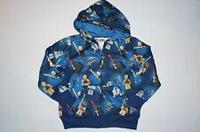 NWT LEGO STAR WARS hoodie jacket BOY Size 4 navy blue