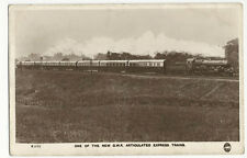 New GWR Articulated Express Train - Regent Series Real Photo PC - Posted 1942