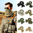 Unisex Tactical Mesh Scarf Mask Shemagh Sniper Veil Camo Military Army Wrap