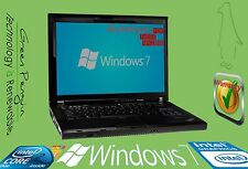 Lenovo Thinkpad Windows 7 Pro 2.1GHz C2D 3GB 160GB R61e Laptop DVD CD-RW w/