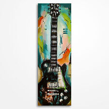 Original abstract guitar painting on canvas, music wall art, MADE TO ORDER
