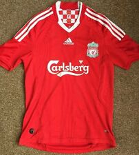 LIVERPOOL FC ADIDAS CARLSBERG 2008/10 HOME TEAM SHIRT UK SIZE SMALL