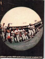 1969 World Series Baseball Program,New York Mets @ Baltimore Orioles,unscored~Fr