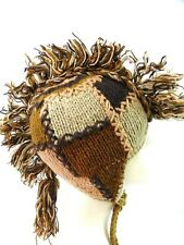 R637 NEW Gorgeous Hand Knitted Ear Flap Woolen Hat/Cap Made in Nepal
