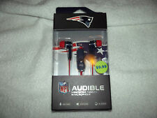 N.F.L. New England Partriots AUDIBLE EARBUDS ~ New in Package! ~ Under $10.00!
