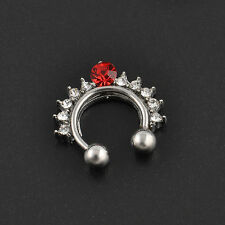 Septum Clicker Nose Rings Fake Nose Piercing Steel Belly Nipple Ear Ring Jewelry